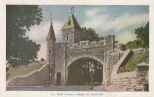 PORTE ST. LOUIS, Quebec, Canada, PU-1952; St. Louis Gate