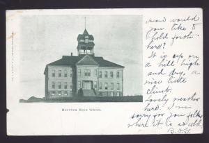 HEPPNER HIGH SCHOOL HEPPNER OREGON ANTIQUE VINTAGE POSTCARD 1906