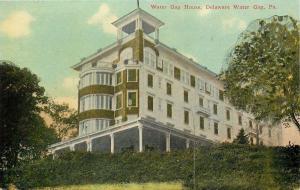 Delaware Water Gap Pennsylvania~Water Gap House on Hill~1910 Postcard