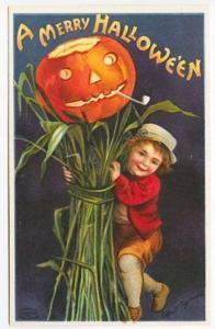 Ellen Clapsaddle Embossed Corn Stalk Boy Series 978 Signed Postcard