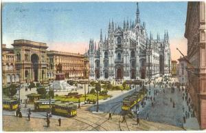 Italy, Milano, Piazza del Duomo, 1912 used Postcard