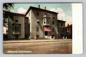Baltimore MD-Maryland, Cardinal's Residence, Vintage c1908 Postcard