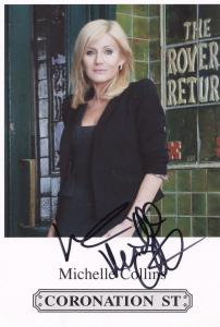 Michelle Collins Coronation Street Hand Signed Cast Card Photo