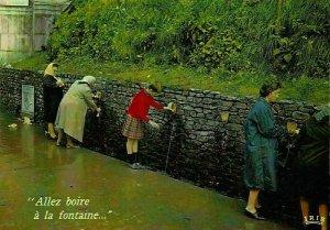 France Lourdes Les Fontaines a l'Eau Miraculeuse Fountains Postcard