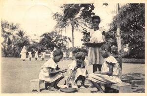 Belgian Congo Belge Mbansa Mboma young girls Postcard