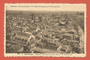 OLD POSTCARD – ANTWERP, BELGIUM – CITY PANORAMA – REAL PHOTO POSTCARD 1920