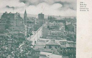 SCRANTON, Pennsylvania, 1901-1907s; Birds Eye View Of Central City