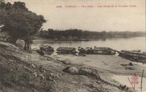 CPA Vietnam Indochine TONKIN Phu-Doan - Les bords de la Rivière Claire (62661)