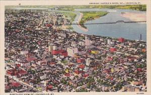 Bird's Eye View Of Louiville Kentucky
