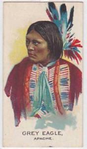 B A T Vintage Cigarette Card Indian Chiefs No 7 Gret Eagle Apache Tribe 1930