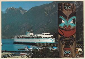 Ferry Landing at Horseshoe Bay,  Indian Tatem Pole,  Vancouver, B.C.,  Canada...