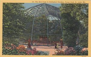 Missouri St Louis The Bird Cage In Zoological Garden Forest Park Curteich