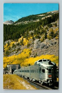 East Portal CO, California Zephyr Train, Moffat Tunnel, Chrome Colorado Postcard