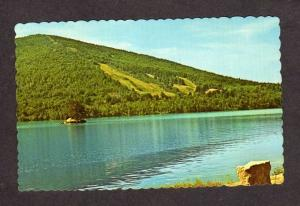 ME Pleasant Mt Mountian Ski Area Shawnee Peak Postcard Bridgton Maine Moose Pond
