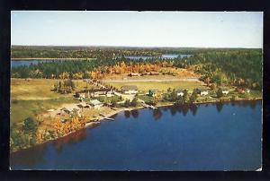 Princeton, Maine/ME Postcard, Aerial Of Play-Stead Camps,