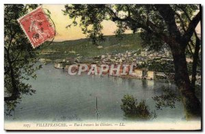 Old Postcard Villefranche View A Travers Les Oliviers