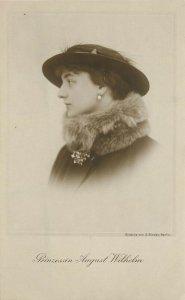 RPPC German Royalty Princess August Wilhelm in Fur Collar & Hat Unposted