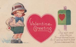 Valentine Greeting , Boy & Mail Box , 1927