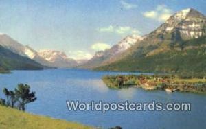 Canada Alberta Waterton Lake & National Park