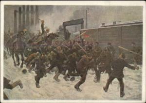 Russia Military & Social History Scene #110 1931 Continental Postcard