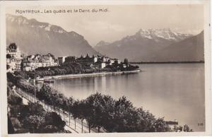 Switzerland Montreux Les quais et la Dent du Midi 1926 Photo