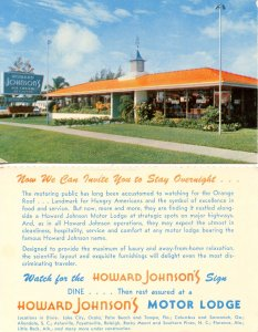 Howard Johnson's Restaurants, Lodging