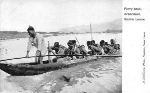 Sierra Leone Arberdeen Ferry-boat canoe boat Pirogue