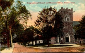 Connecticut Groton Congregational Church and Monument Street