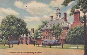 Virginia Williamsburg Governors Palace 1957
