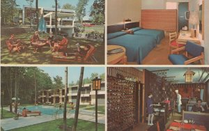 Quebec Hotel-Motel Henri IV Swimming Pool Canada Postcard