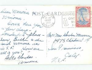 Pre-1980 NICE VIEW Postmarked Hamilton Bermuda i5128