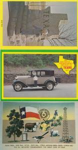 Texas Children Being Grown Ups Classic Cars 3x Map Postcard s