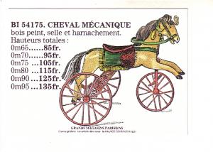 Beautiful Child's Mechanical Horse, Paris, Published in France 1996