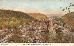 LPS59 McGREGOR Iowa Main Street Aerial View Postcard