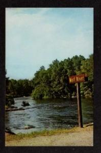 WI Wolf River Menominee Indians WISCONSIN Postcard PC