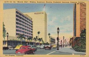California Los Angeles Wilshire Boulevard 1952 Curteich sk5533