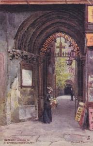 Artist Charles E. Flower , Gateway leading to St. Bartholomew's Church , LO...