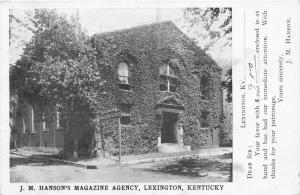 Lexington Kentucky~J M Hansons Magazine Agency Subscription Postcard~1908