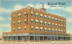 Kincaid Hotel roadside Uvalde Texas Teich Postcard Teich linen 20-323