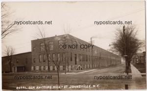RPPC, BEACH, Royal Gem Knitting Mill, St. Johnsville NY