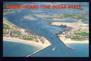 Galilee/Jerusalem, Rhode Island/RI Postcard, Aerial View Of Coastline