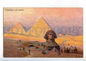 233017 EGYPT KIRCHER Pyramids & sphinx Vintage postcard