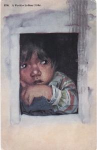 Pueblo Indian Child , PU-1916