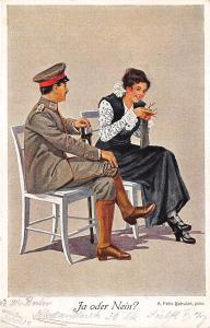BG4099 ja oder nein  couple soldier  germany military militaria propaganda