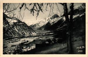 CPA Les Houches Le Bourg, la vallee de l'Arve et de Chamonix (618590)