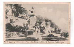 BOULOGNE SUR MER, Pas De Calais, France, PU-1904; Les Remparts, Statue De Duc...