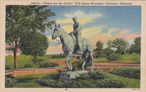 ONC Riding Into The Sunset Will Rogers Monument Claremore Oklahoma