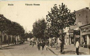 romania, BRǍILA, Victoria Street (1910s) Postcard