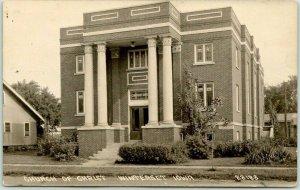 1910s WINTERSET, Iowa RPPC Real Photo Postcard CHURCH OF CHRIST Building View
