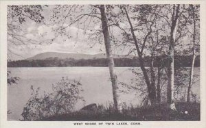 Connecticut Canaan West Shore Of Twin Lake Albertype
